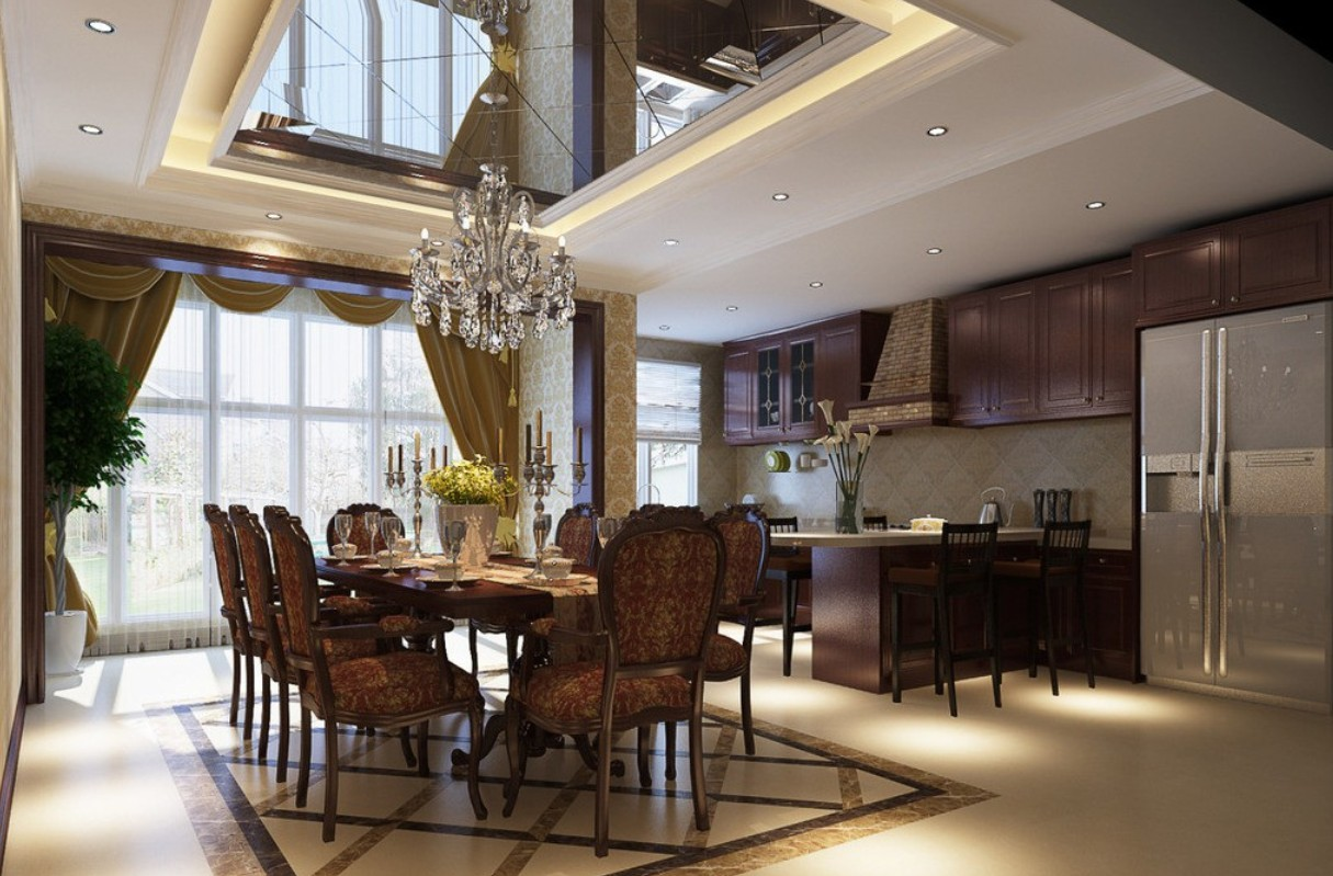 practical kitchen and dining room designs picture