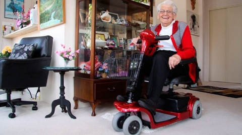Make the Home of Your Elderly Parents Appropriate for Mobility Scooter Use Picture